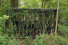Forest School birdhide in UK