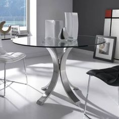 Round crystal table MITOS by Nube Italia | design Giuliano ...