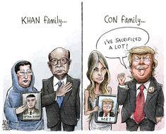 Khan vs Trump - Adam Zyglis