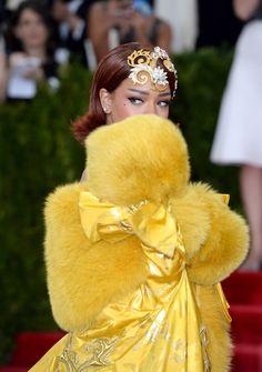 Rihanna in Guo Pei Couture Look at 2015 Met Gala in New York City
