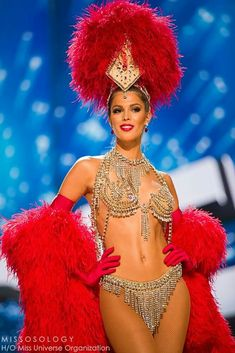 Iris dazzled in her National Costume; an authentic Moulin Rouge piece straight from Paris. Belly Dancer Costumes, Burlesque Costumes, Belly Dancers, Dance Costumes, Vegas Showgirl, Showgirl Costume, Carnival Fashion, Carnival Outfits, Carnival Costumes