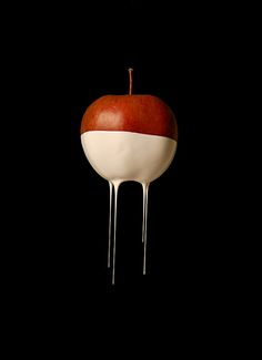 Apple . Apfel . pomme | Food. Art + Style. Photography: Food on black by Natasha Alipour-Faridani |