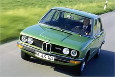 E12 BMW 525 in Taiga Green, the 5-series is celebrating its 40th birthday in 2012