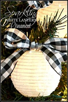 SPARKLING WHITE LANTERN CHRISTMAS ORNAMENT