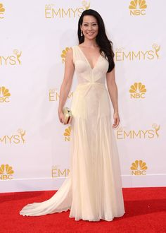 2014 Primetime Emmy Awards: Celebrity Arrivals **USA, Australia, New Zealand ONLY**