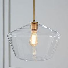 Sculptural Glass Geo Pendant - Large