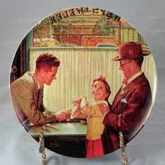This is The Jewelry Shop from the Heritage series by Knowles. Available now at www.rockwellplates.com Norman Rockwell, Jewelry Shop, Painting, Collection, Art, Art Background, Jewlery, Painting Art, Kunst