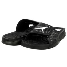 NIKE JORDAN HYDRO 5 SLIDES SANDALS FLIP FLOPS NEW MEN 10 black 820257-010 #