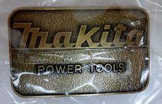 Makita Power Tools Brass Belt Buckle #Unbranded #Novelty