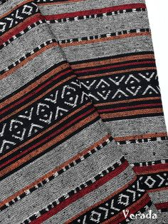 thai woven cotton fabric tribal fabric native fabric by the yard ethnic fabric aztec fabric craft supplies woven textile 1 2 yard wf147
