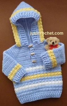FJC14-Hoodie baby ... by justcrochet | Crocheting Pattern - Looking for your next project? You're going to love FJC14-Hoodie baby crochet pattern by designer justcrochet. - via @Craftsy