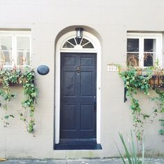 Framed with Window Boxes - Our Favorite Charleston Front Doors