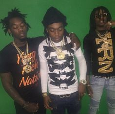 """Here is a new record from the Migos called """"I Just Wanna"""" produced by Fuse of 808 Mafia. Previously: Migos ft. Sauce Walka & Sosamann – On Top Migos Albums, Migos Rapper, Migos Quavo, Thug Style, Boy Celebrities, Celebrity Crush, Music Artists, Eye Candy, Hip Hop"""