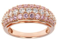 Remy Rotenier For Bella Luce (R) 2.63ctw Pink & White Dia Simulant Eterno (Tm) Rose Ring