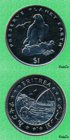 Falcon, Eritrea 1 Dollar 1995 Copper-Nikel 28.3 g 38 mm KM-37
