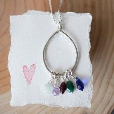 bauble birthstone necklace {sterling silver}