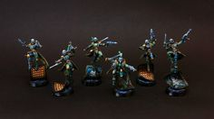"HopeRiver's Valley: Harlequin army. Turquoise part - ""Masks"""