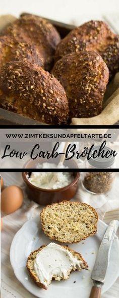 Low Carb Eiweißbrötchen sind super lecker und einfach zu backen, noch dazu glutenfrei und das einfache Rezept dazu findet ihr auf meinem Blog