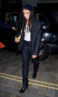 FKA twigs Borrows From the Bankers in a Pinstripe Suit