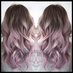 Lavender. This is so beautiful. I would totally do some strands like this