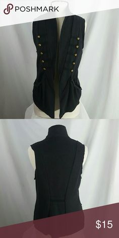 Cotton Vest With Gold Buttons In good condition and its perfect with a pair of black jeans Jackets & Coats Vests