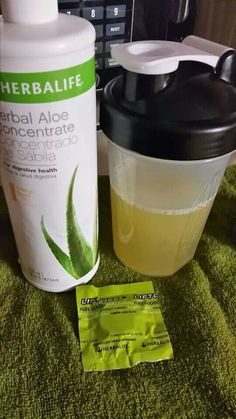 Wakeup drink 3 cap fulls of mango aloe Vera concentrate 1 tablet liftoff lime