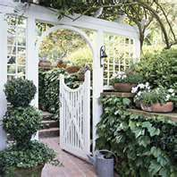 .Gate to an old fashioned cottage garden