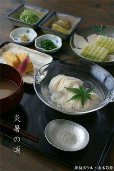 【一汁一菜】お味噌汁中心の食事:冷やし素麺