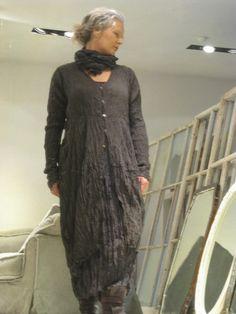 Privatsachen Tun Crinkle Silk Button-through Dress