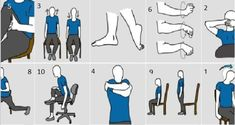 Regardless of whether you are active and do regular stretching, pain in various parts of the body may occur anywhere and anytime. Fortunately, there is a method for removing pain, and you do not even have to be separated from the chair. Lower back pain. Healthy Mind, Get Healthy, Healthy Habits, V Smile, Transform Your Life, Relaxing Music, For Your Health, Body Parts, Health Remedies