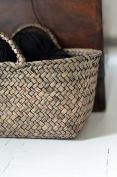 Baskets for magazine storage .... practical and useful!