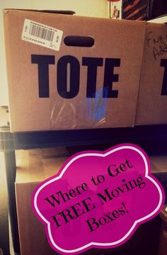 Where to get FREE moving boxes!