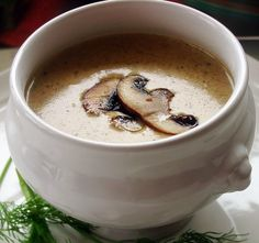 Cream of Mushroom Soup, this is my favorite soup! This is a great recipe!