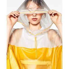 TRANSPARENTER PONCHO - GYMWEAR | WOMAN-EDITORIALS | ZARA Österreich ($56) via Polyvore featuring outerwear