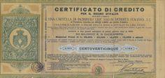 CERTIFICATO DI CREDITO PER IL REGNO D' ITALIA - LIRE 125 - #scripomarket #scriposigns #scripofilia #scripophily #finanza #finance #collezionismo #collectibles #arte #art #scripoart #scripoarte #borsa #stock #azioni #bonds #obbligazioni