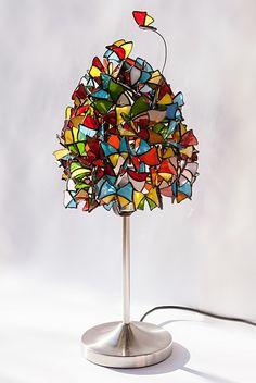 Lampa Motylki | Andrzej Głowacki - Pracownia Witraży