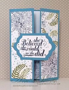 Lavender Thoughts   Annette Sullivan   Stampin' Up! Awesomely Artistic Marina Gatefold
