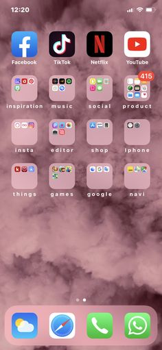 Home Screen Inspiration Iphone Home Screen Layout, Iphone App Layout, Organize Apps On Iphone, Apps For Girls, Whats On My Iphone, Good Photo Editing Apps, Aesthetic Phone Case, Phone Organization, Organization Ideas