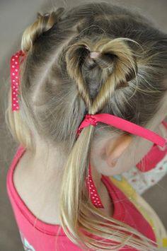 little girls valentines day hair