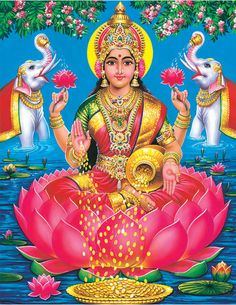 Worshiping Goddess Lakshmi is the great way ti invite wealth to your home..!