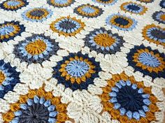 granny square blanket by candy