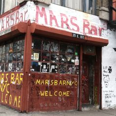 Memory of Mars Bar NYC  What a philthy rotten place this was..true punk rock.