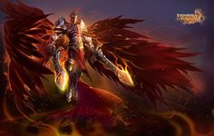 """Referred to as """"The Burning One"""", Seraphim's burning passion and loyalty to the Gods has set him apart from other angels. If the Gods are disrespected, he will do whatever it takes to enforce their will. Seraphim has little respect for humans, but has been known to fight for some of the mightiest warriors in the history of the land, but only for causes beneficial to the Gods."""