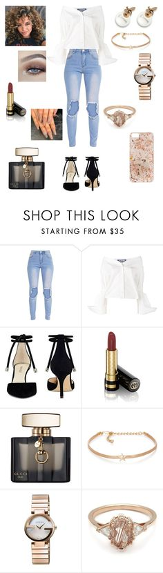 """Oh What a Day"" by apollar2 ❤ liked on Polyvore featuring Jacquemus, Nine West, Gucci, Kenneth Jay Lane, BEA and Anrealage"