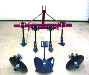 This is a very popular package as you will have a middle buster plow, row builder and cultivator all in one package. The attachment to the tool bar is simple and easily adjust to your needs and row spacing.