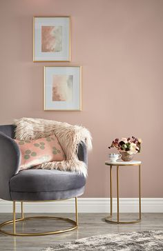 Home office paint colors 2018 47 Ideas Living Room Furniture, Living Room Decor, Pink Living Rooms, Blush And Grey Living Room, Brown Furniture, Accent Furniture, Cheap Furniture, Discount Furniture, Bedroom Wall
