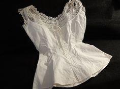 Victorian Corset Cover Camisole w Lace Trim
