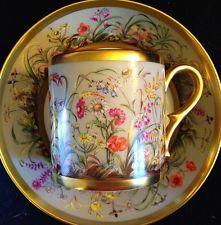 Limoges Ancienne manufatura Royale Fleurs Des campeões DemiTasse $400 conjunto de copo