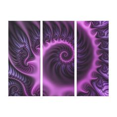 Vivid Abstract Cool Pink Purple Fractal Art Spiral Canvas Print - girly gift gifts ideas cyo diy special unique