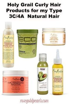 The Best Curl Defining Natural Hair Products for Type 3c/4a Hair – Rose Gold Pearls